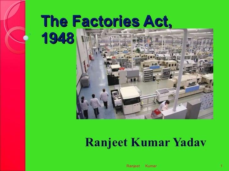 Factory Act 1948 In Gujarati Pdf