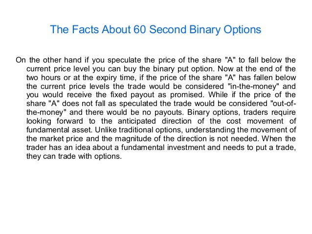 Binary options trading facts