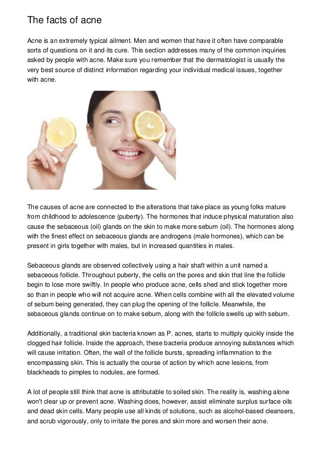 The Facts Of Acne