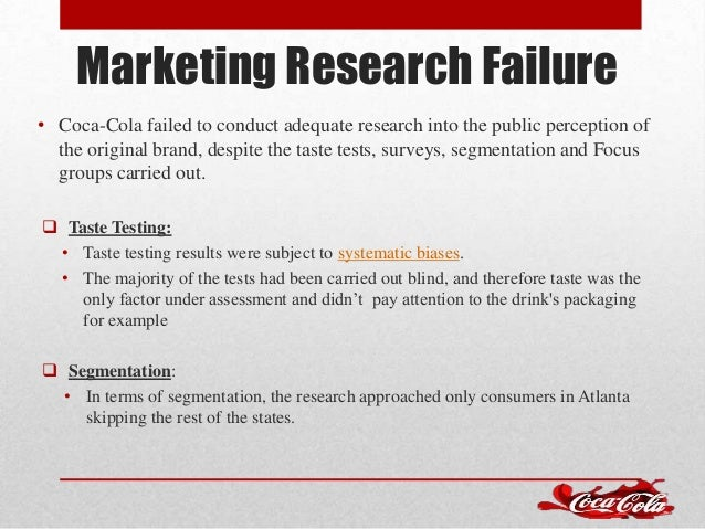 marketing product failure research Consumer marketing market research fail: how new coke became the worst flub of all time  the cards and solid market research can prevent a failure of new coke proportions  a history fair .