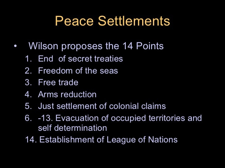A peace to end all peace the treaty of versailles essay