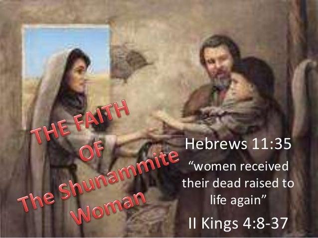The Faith Of A Shunammite Woman
