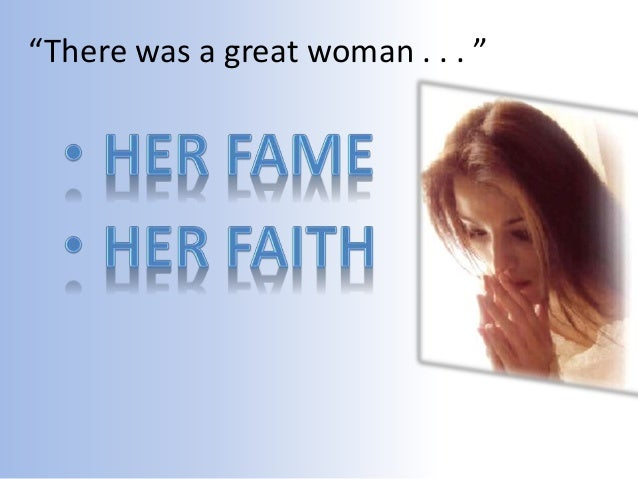 There Was A Great Woman