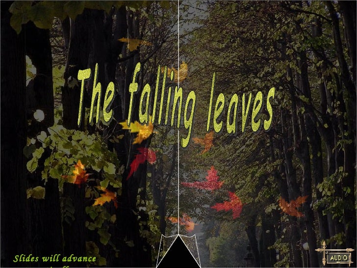 The falling leaves Slides will advance automatically