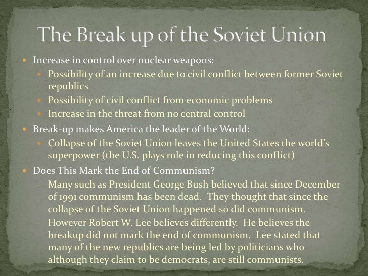 "the united states after the fall of the soviet union essay The united states and the soviet union,  after 1945 was predominantly aimed at the expansion of the communist system  that ""if greece should fall."