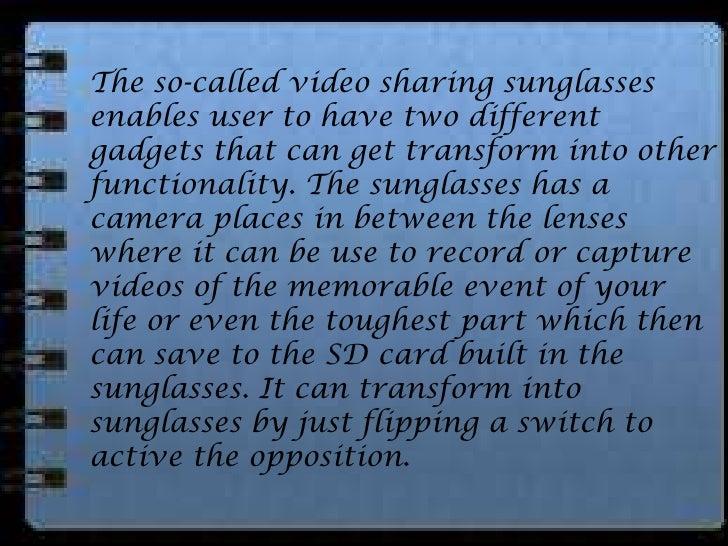 The false in a true video sharing glasses Slide 3