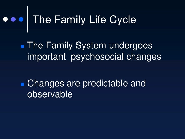 The Family Life Cycle Slide 3