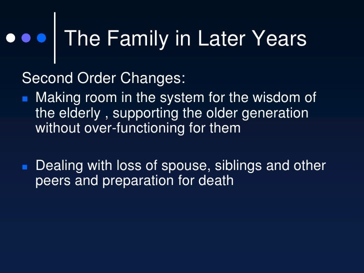 family life cycle essays The developmental perspective on the family has placed the nuclear family, as a group, with its regular patterns of expansion, transition, and contraction, in the.
