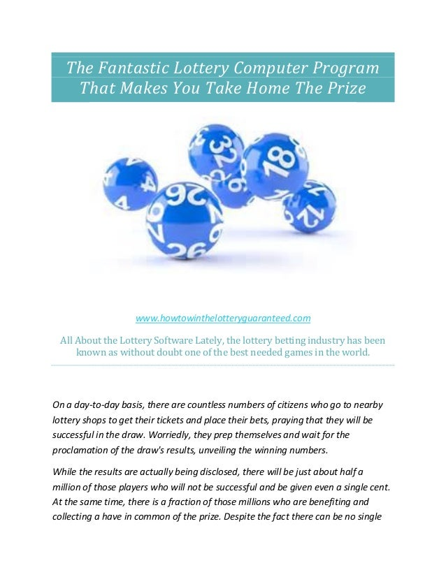 how to win the lottery guaranteed com