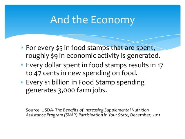 Net Economic Benefit Of Food Stamps