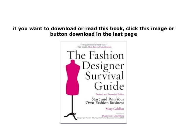 Free E Book The Fashion Designer Survival Guide Revised And Expan