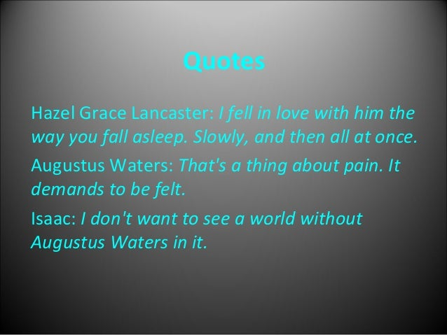 The Fault In Our Stars Movie Power Point