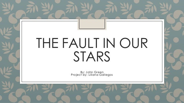 plot analysis of the fault in our stars