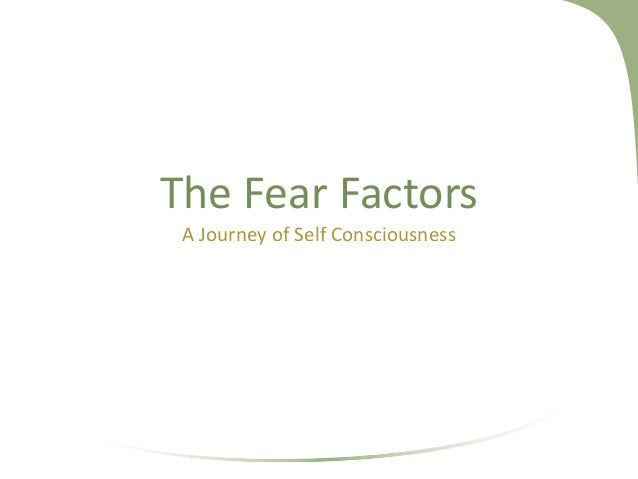 The Fear Factors A Journey of Self Consciousness