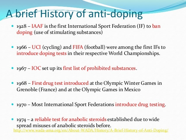 the origins and history of the use of anabolic steroids in sports A brief history of how steroids destroyed america's pastime anabolic steroids are and the current holder of the greatest record in sports.