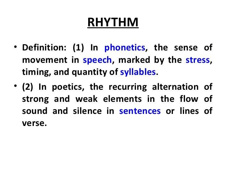 rhythm meaning in english