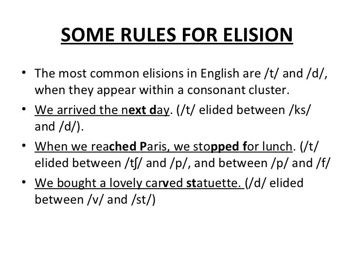 elision in english Translation for 'elision' in the free danish-english dictionary and many other english translations.