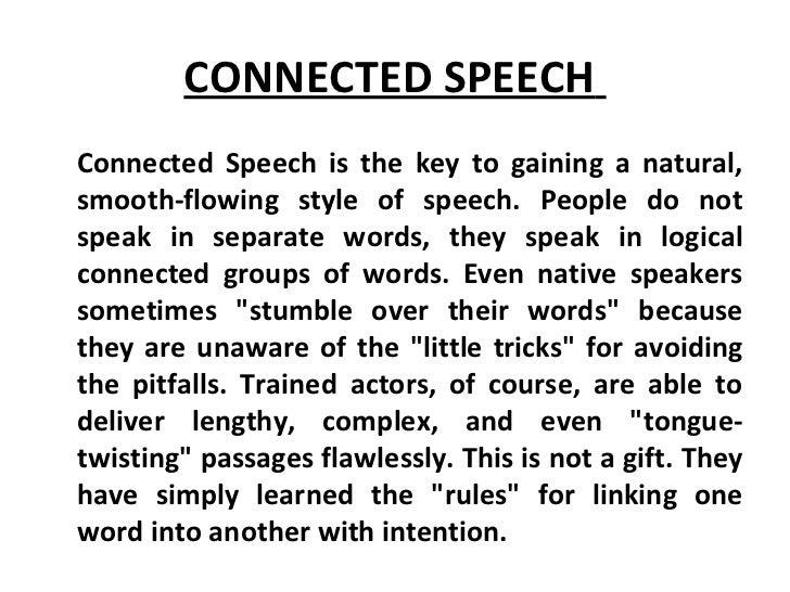 rhythm in connected speech
