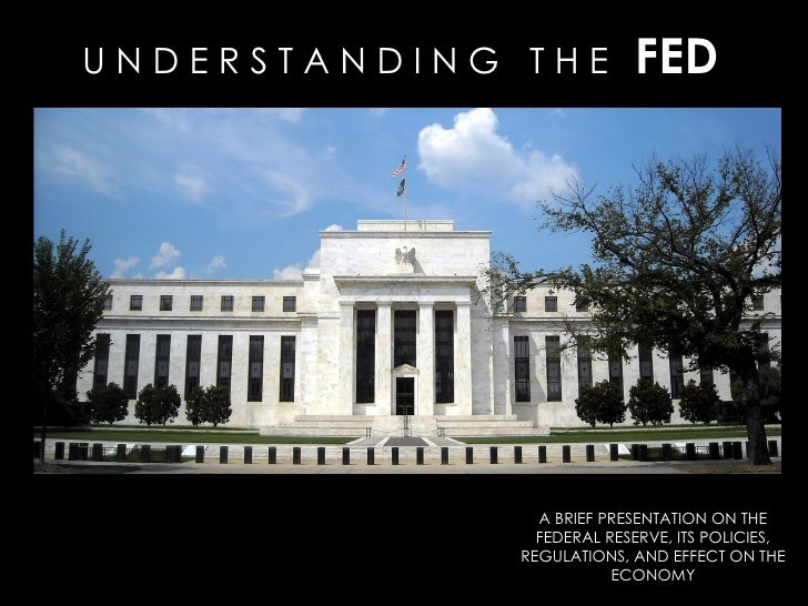 federal reserve presentation Link federal reserve presentation 1 2,139 views share the federal reserve is the central bank of the united states and its purpose is to help ensure a stable economy for the nation.