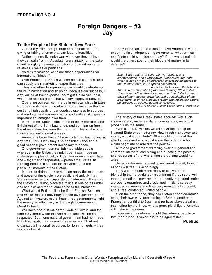 Federalist paper 6