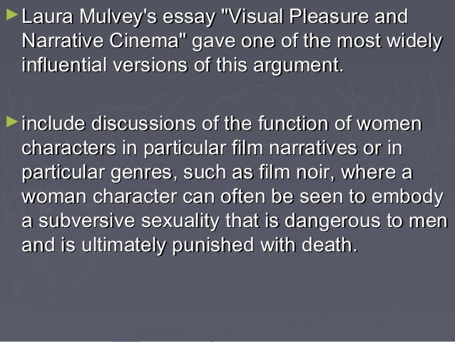 Laura mulvey essay