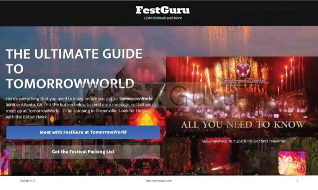 Eesaflaamzi  EDM Festivals and More  THE ULTIMATE GUIDE I   I   ,  To 11 I  .  ll TOMORRO rworato ,  I   Here's everything ...