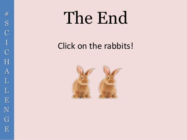 # S C I C H A L L E N G E The End Click on the rabbits!