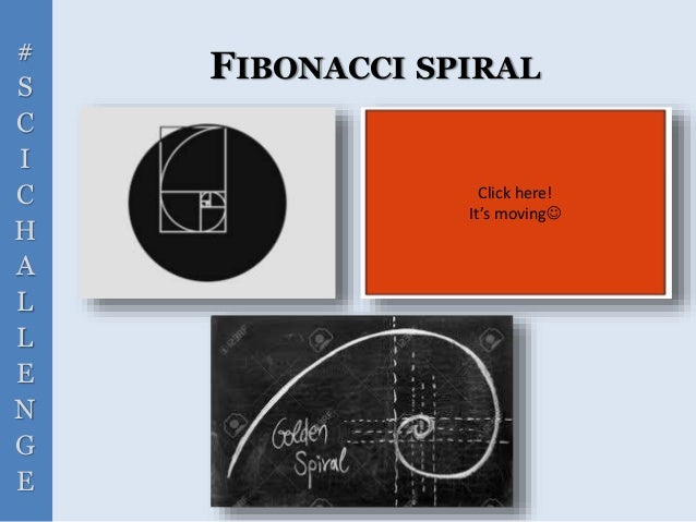 # S C I C H A L L E N G E FIBONACCI SPIRAL Click here! It's moving
