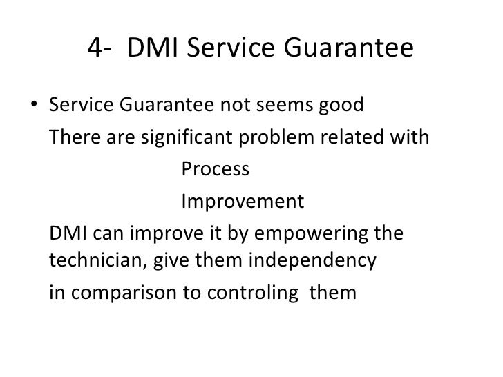 the field service division of dmi essay Field service division of dmi 1213 words | 5 pages assessment 1: the field service division of dmi dmi: use of technology in business re-engineering the study brings about many issues encountered by diversified manufacturing, inc: some explicit and others merely implied implicitly.