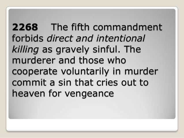 The fifth commandments
