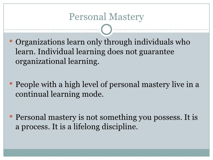 5 disciplines of learning org 5
