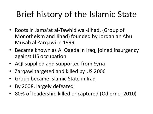 Back from defeat • May 2010 Abu Bakr al Baghdadi takes over ISI • Ba'athists replenish leadership • US withdrawal from Ira...