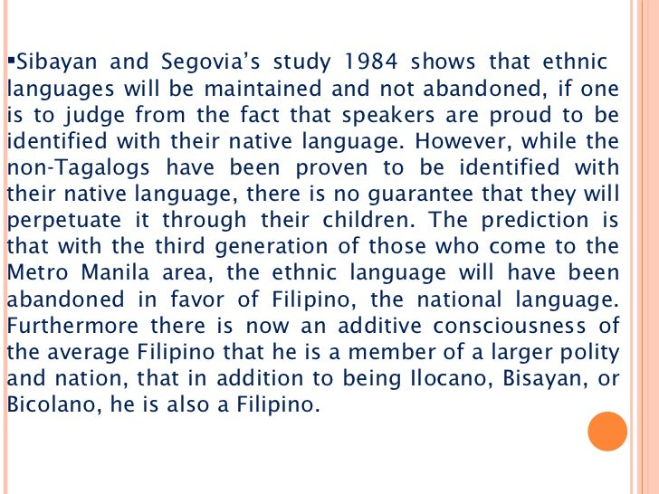 the filipino bilingualism from a sociolingustic perspective  54