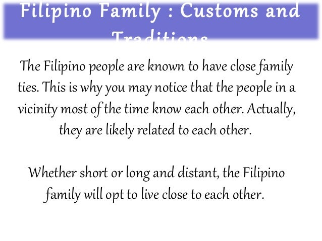 close family ties tagalog