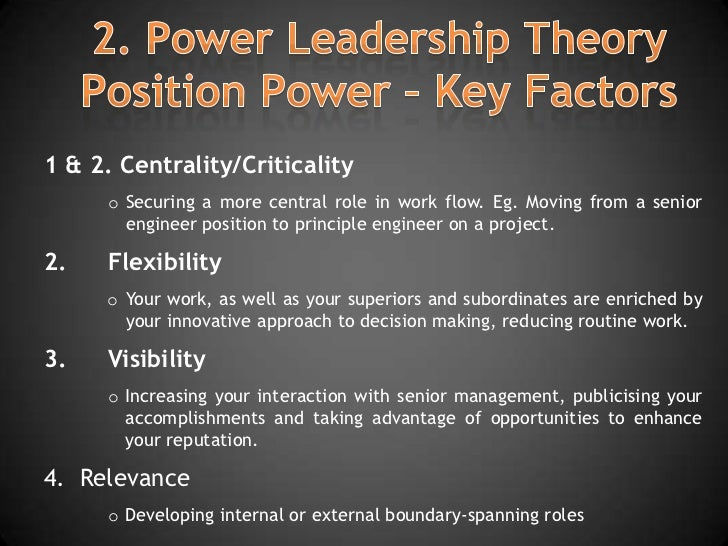 the key factors that drive a legitimate and strong leadership Leadership and power base development: exactly how do effective leaders build a strong power five key factors have the ability to foster power in a lead-.