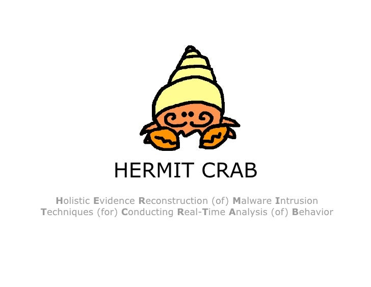 HERMIT CRAB    Holistic Evidence Reconstruction (of) Malware Intrusion Techniques (for) Conducting Real-Time Analysis (of)...