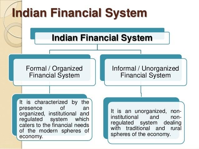 financial system in india India has a financial system that is managed by autonomous controllers in the  areas of banking, insurance, capital markets, rivalry and different.