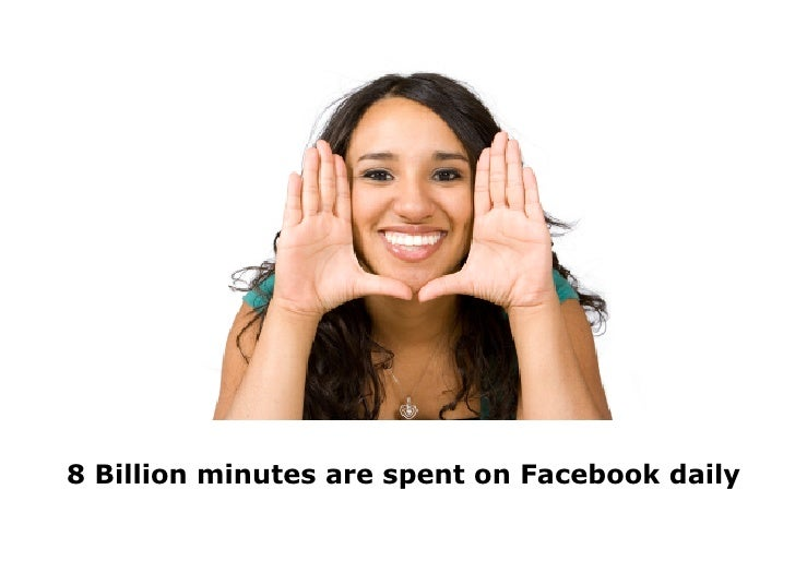 8 Billion minutes are spent on Facebook daily
