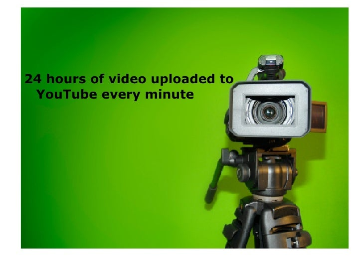 24 hours of video uploaded to  YouTube every minute