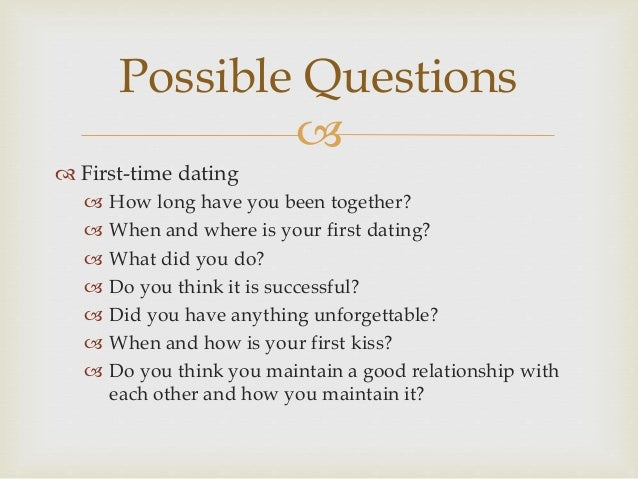 Dating for first time