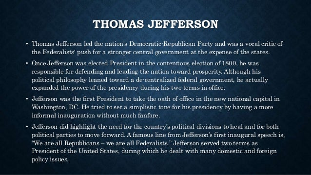 the hypocrisy of thomas jefferson during his term Thomas jefferson is in the news again, nearly 200 years after his death — alongside a high-profile biography by the journalist jon meacham comes a damning portrait of the third president by the.