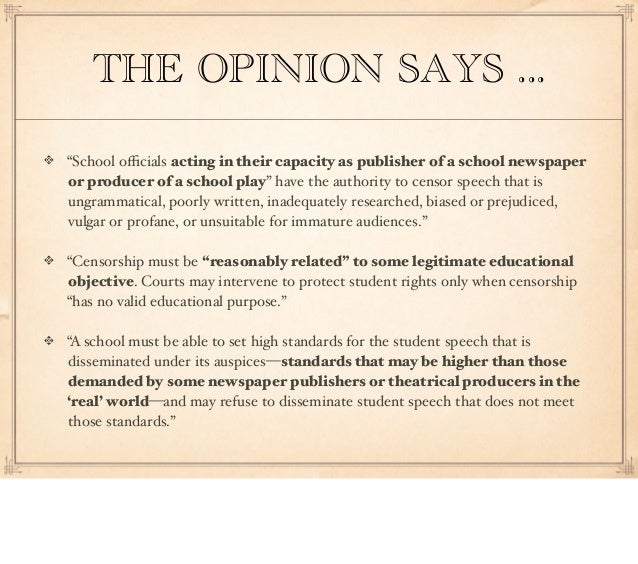 an analysis of the first amendment free of expression Ii dissertation approval page student: anne f conaway title: an analysis of first amendment protection for student expression, mid-1900s-2011.