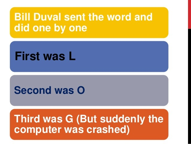 What Was The First Message Sent Over The Internet
