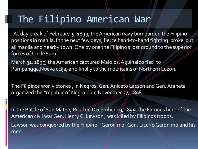 the philippine american war essay Research essay sample on spanish american war world war ii custom essay writing spanish philippine philippines spain.