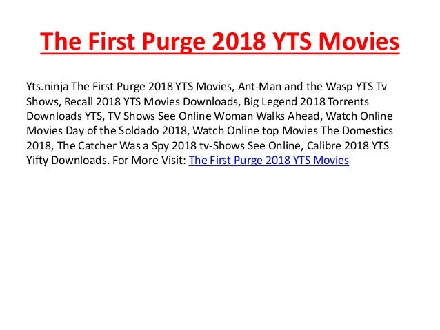 The First Purge 2018 Yts Movies