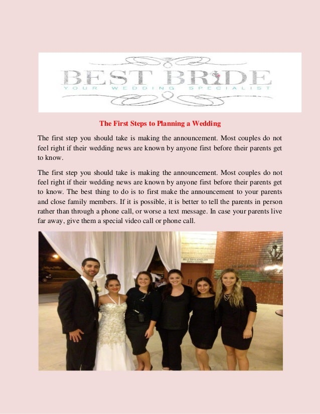 the first steps to planning a wedding