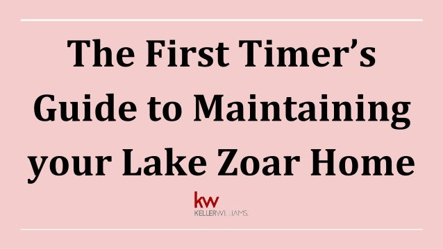 The First Timer's Guide to Maintaining your Lake Zoar Home