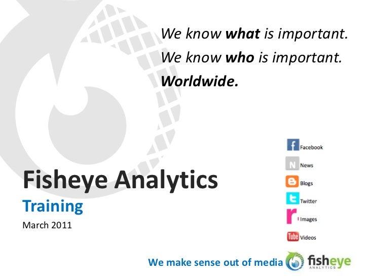 The Fisheye Analytics media lens training deck