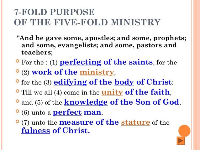 Recognizing The Five-Fold Ministries