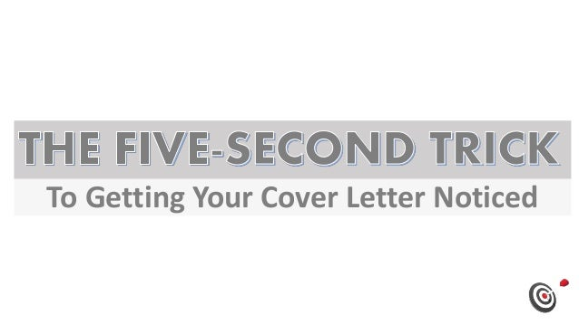 To Getting Your Cover Letter Noticed